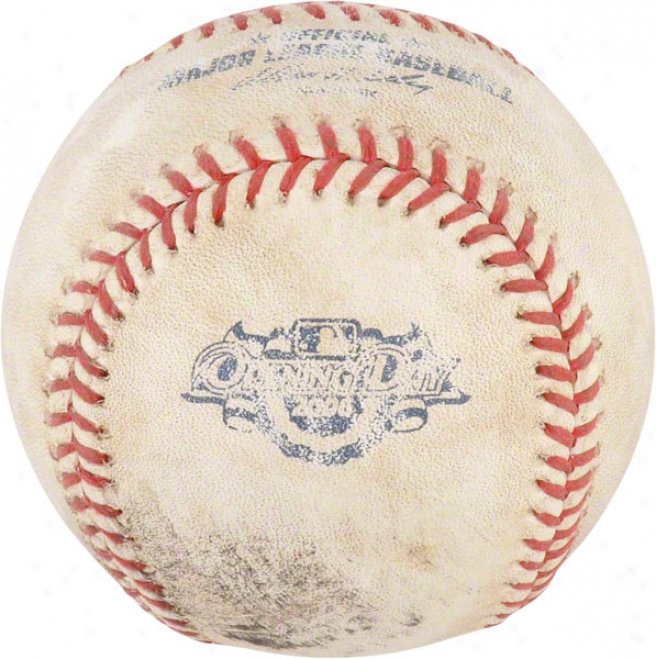 Chicago White Sox 4-2-06 Opening Day Vs. Indians Unsigned Game Used Baseball