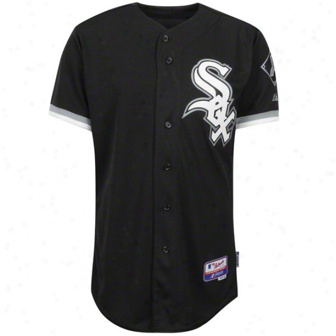 Chicago White Sox Alternnate Black Authentic Cool Baseã¢â�žâ¢ On-field Mlb Jersey