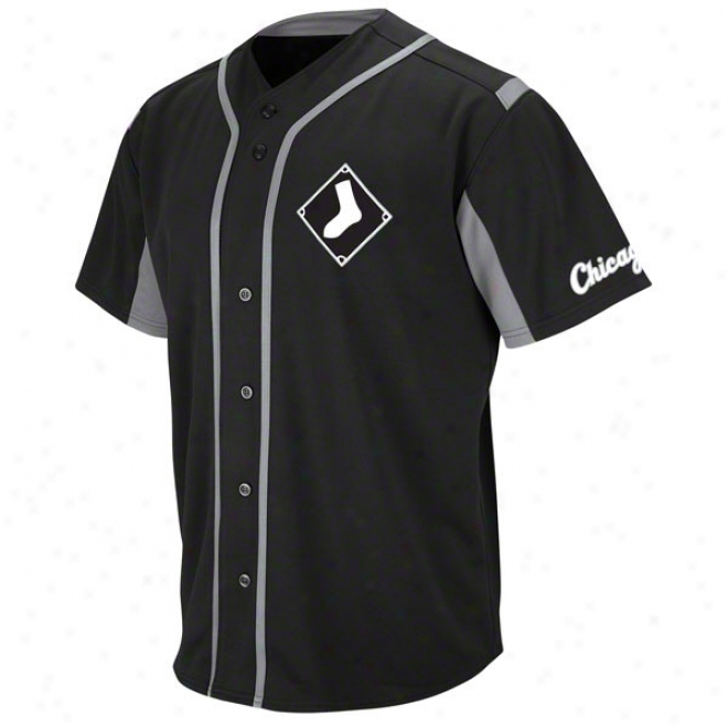 Chicago White Sox Black Wind-up Jersey