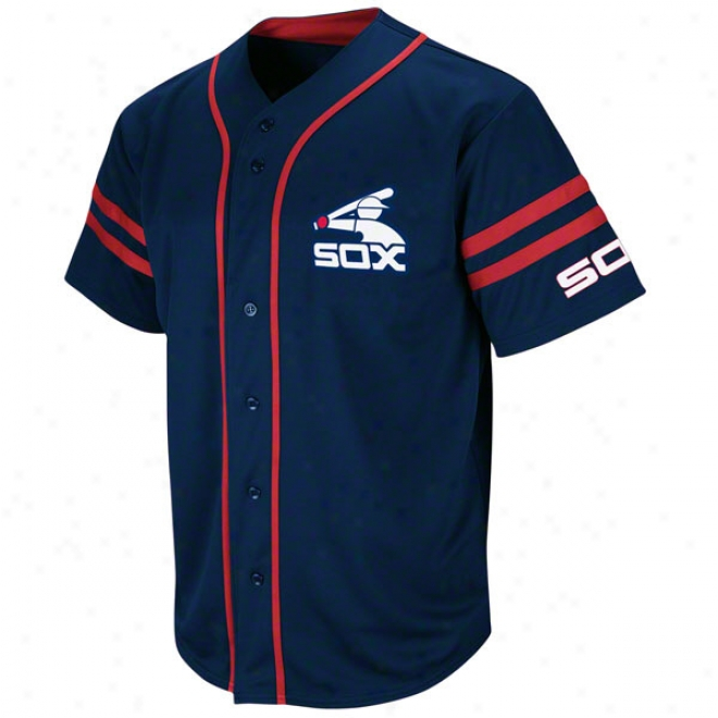 Chicago White Sox Cooperstown Navy Heater Fashion Jersey