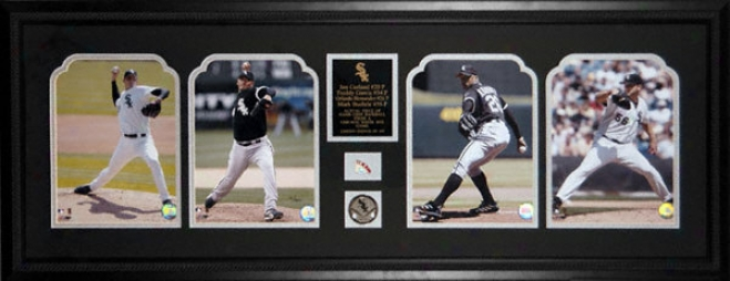 Chicago White Sox Diamond Stars - 2005 Pitchers - Framed 8x10 Photographs With Game Used Baseball Piece Piece And Descriptive Plate