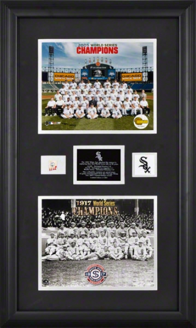 Chicago White Sox Framed - 1917 & 2005 Defender Team Piece With Ball & Medallion - 8x10 Photograph