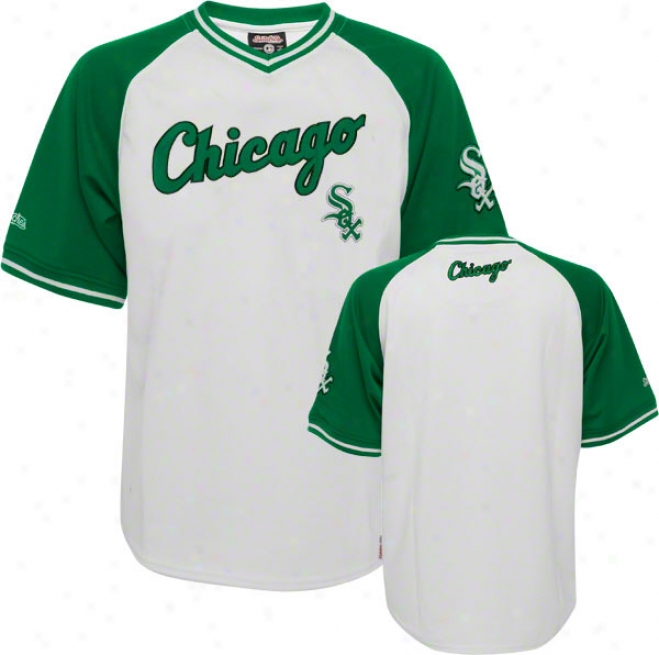 Chicago White Sox Jersey Stitches White/green V-neck Jersey