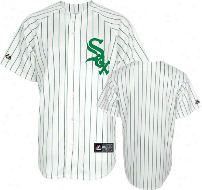 Chicago Whitw Sox Majestic Pinstripe St. Patricks Day Replica Jersey
