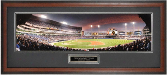 Chicago White Sox - New Comiskey Park Vs Cubs - Framed Unsigned Panoramic Photograph