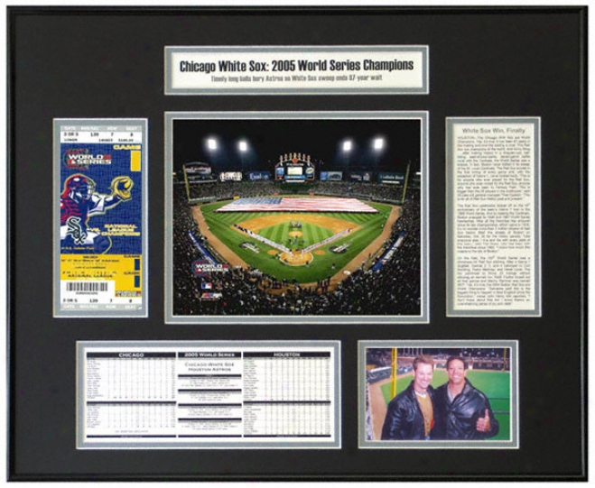 Chicago White Sox - Openin gNight Lineups - 2005 World Series Champions World Succession Ticket Frame