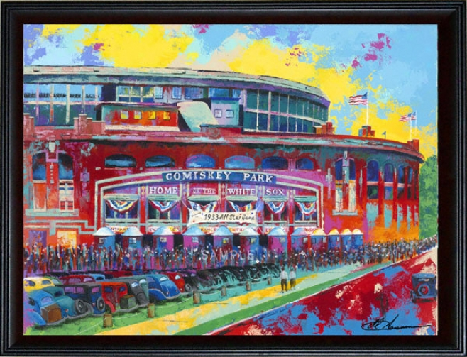 Chicago White Sox - &quotcomiskey Park&quot - Wall - Framed Giclee