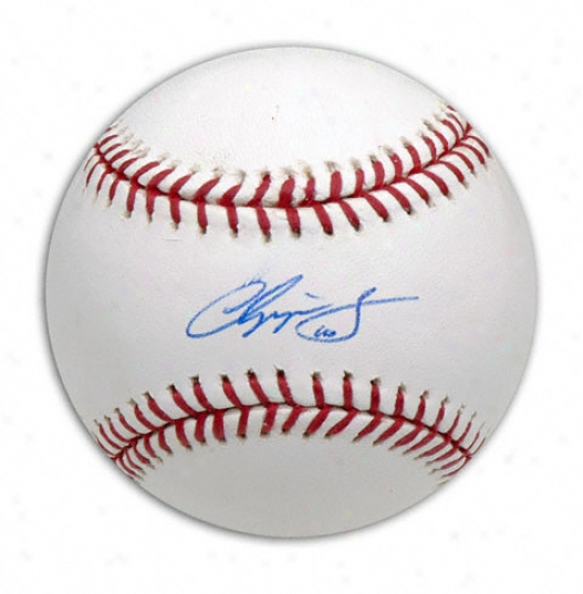 Chi;per Jones Autogtpahed Baseball