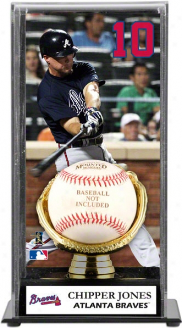 Chipper Jones Gold Glove Baseball Display Case  Details: Atlanta Braves