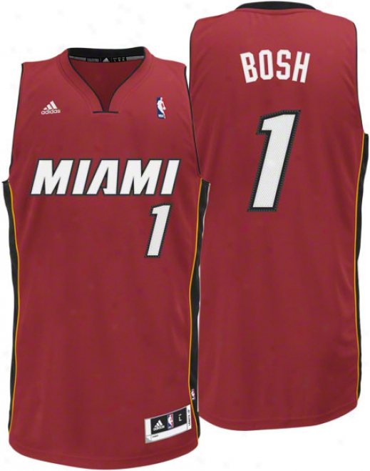 Chris Bosh Jersey: Adidas Revolution 30 Red Swingman #1 Miami Heat Jersey
