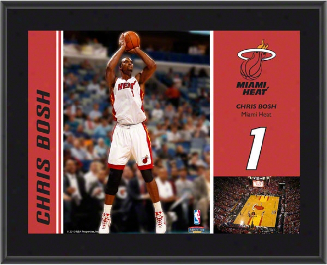 Chris Bosh Plaque  Details: Miami Heat, Sublimmated, 10x13, Nba Plaque