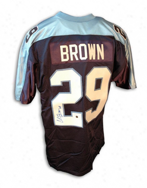 Chris Brown Autographed Blue Jersey