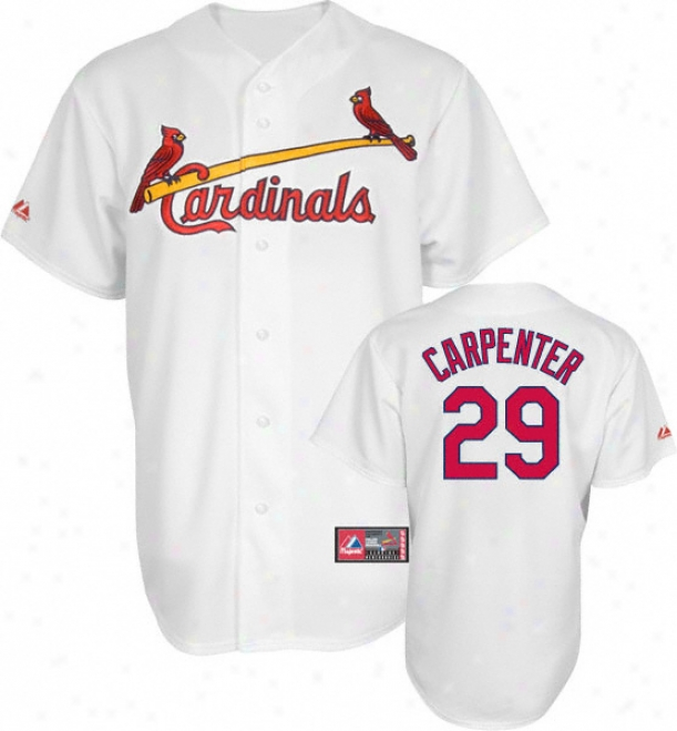 Chris Carpenter Jersey: Adult Majestic Home White Replica #29 St. Louis Cardinals Jersey