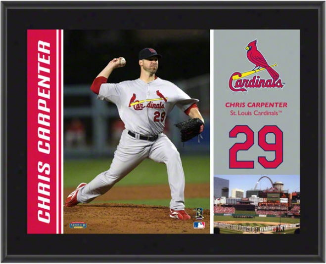 Chris Carpenter Plaque  Details: St. Louis Cardinals, Sublimated, 10x13, Mlb Plaque