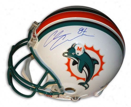 Chris Chambers Autographed Pro-line Helmet  Particulars: Miami Dolphins, Authentic Ridddll Helmet