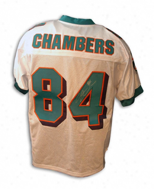 Chris Chambers Miami Dolphins Autographed Reebok Authentic Jersey