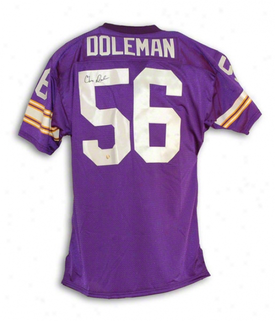 Chris Dkleman Autographed Minnesota Vikings Autographed Purple Throwback Jersey