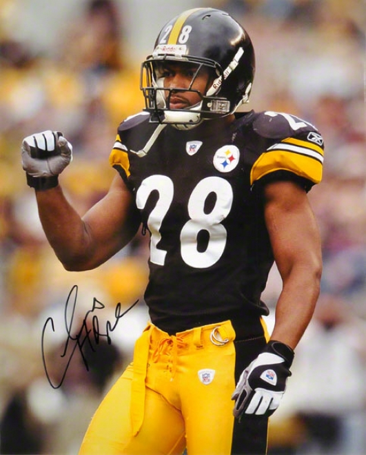 Chris Hope Pittsburgh Steelers - In Black Jersey - 16x20 Autographed Photograph