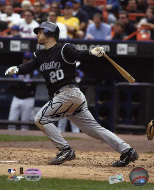 Chris Iannetta Autographed 8x10  Details: Colorado Rockies, Batting