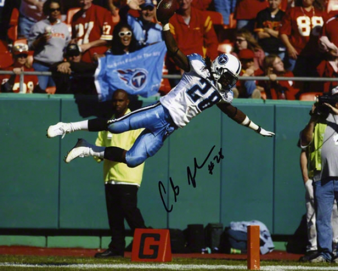 Chris Johnson Autographed 8x10 Photograph  Details: Tennessee Tiitans
