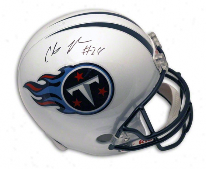 Chris Johnson Autoographed Tennese Titans Replica Helmet