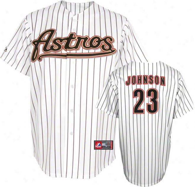 Chris Johnson Jersey: Adult Home White Replica #23 Houston Astros Jersey