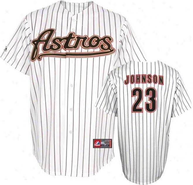 Chris Johnson Jersey: Adult Home White Replica #23 Houston Astros Jersey