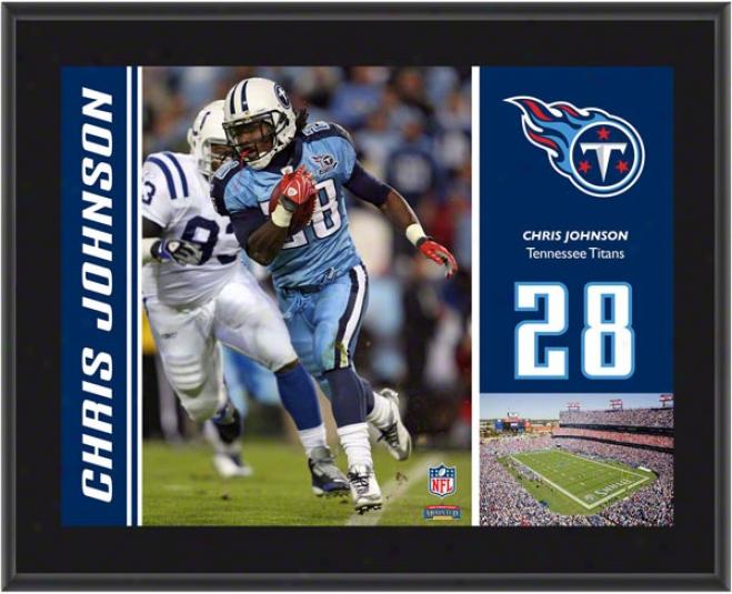 Chris Johnson Plaque  Details: Tennessee Titans, Sublimated, 10x13, Nfl Plaque