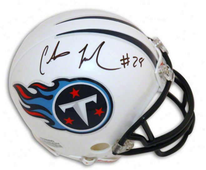 Chris Johnson Tennessee Titans Autographed Mini Helmet