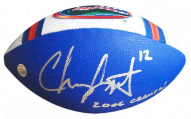 Chris Leak Autographed Florida Gators Football With &quot2006 Champs!&quot Inscription