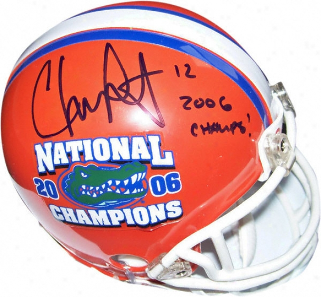 Chris Leak Autographed Florida Gators National Cnampionship Logo Mini Helmet With &quot2006 Champs!&quot Inscription