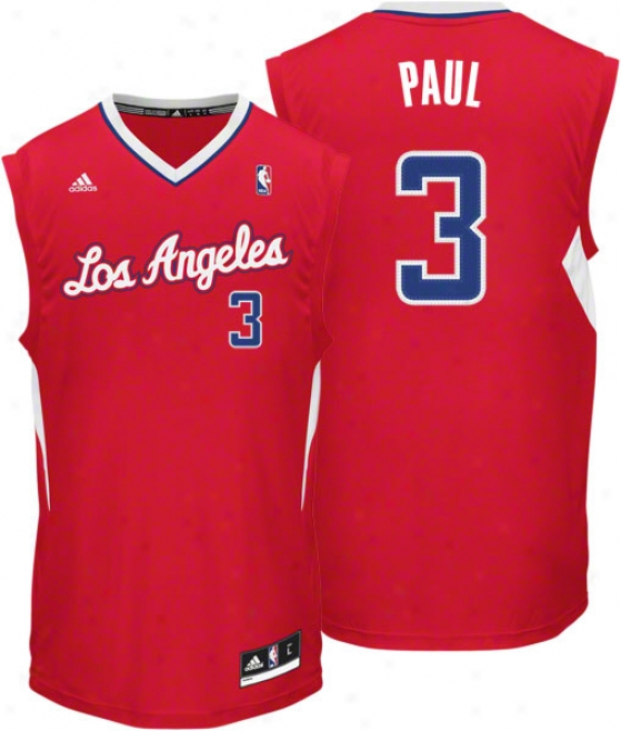 Chris Paul Jersey: Adidas Revolution 30 Red Replica #3 Los Angeles Clippers Jersey