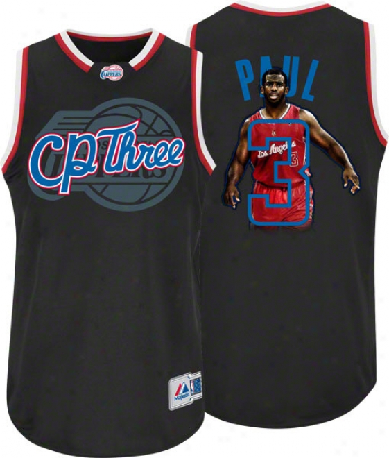 Chris Paul Los Angeles Clippers 'cp Three' Majestic Notorious Jersey