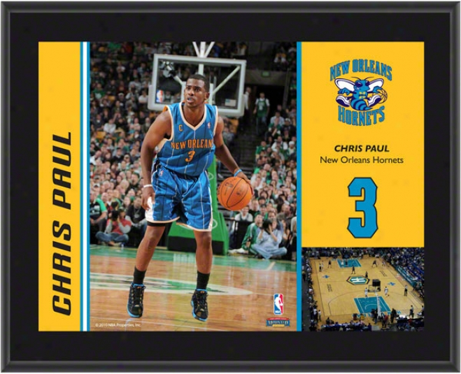 Chris Paul Brooch  Details: Nrw Orleans Hornets, Sublimated, 10x13, Nba Plaque