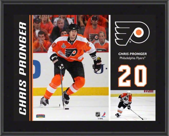 Chris Pronger Plaque  Details: Philadelphia Flyers, Sublimated, 10x13, Nhl Plaque
