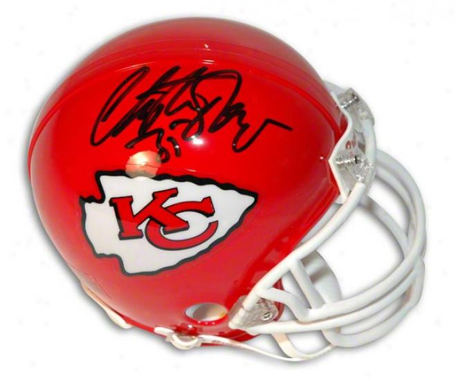 Christian Okoye Autographed Kansas City Chiefs Mini Helmet
