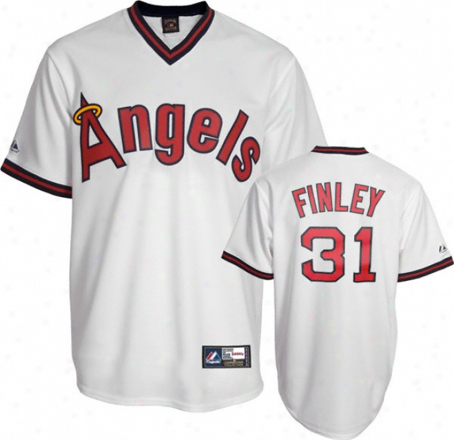 Chuck Finley California Angels Cooperstown Replica Jersey