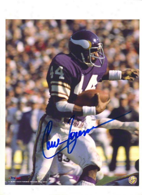Chuck Foreman Autographed Minnesota Vikings 8x10 Photo