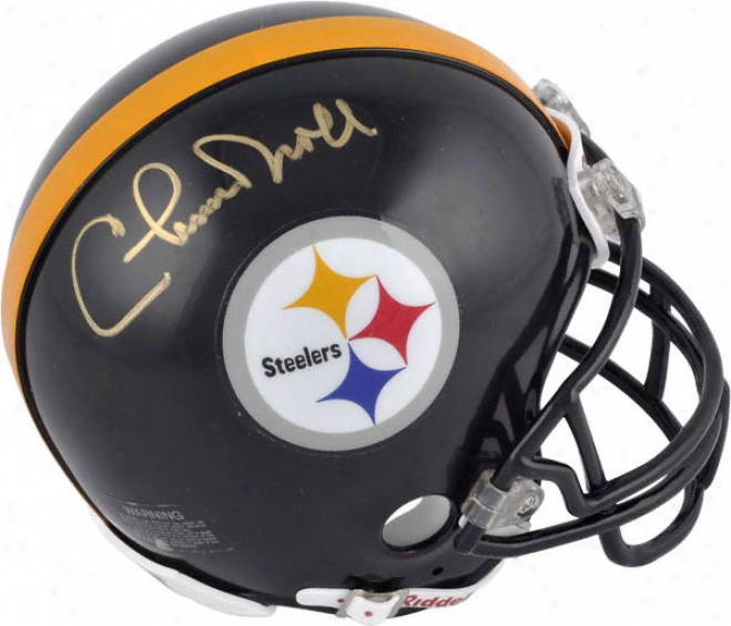 Chuck Noll Pittsburgh Steelers Autographed Mini Helmte
