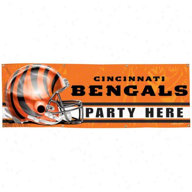 Cincinnati Bengals 2x6 Vinyl Banner