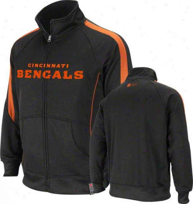 Cincinnati Bengals Black Tailgate Time Track Jacket