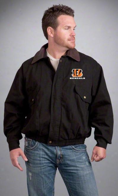 Cincinnati Bengals Jacket: Black Reebok Navigator Jacket