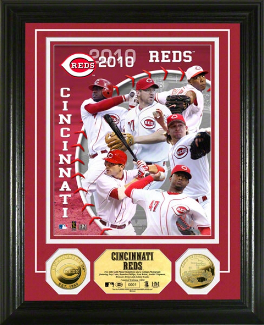 Cincinnati Reds 2010 Team 24kt Golx Coin Photo Mint