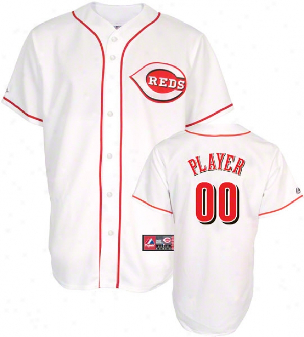 Cincinnati Reds -any Player- Home Mlb Replica Jersey