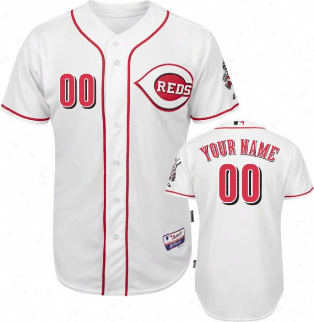 Cincinnati Reds - Personalized With Your Name - Authentic Cool Baseã¢â�žâ¢ Home White On-field Jersey
