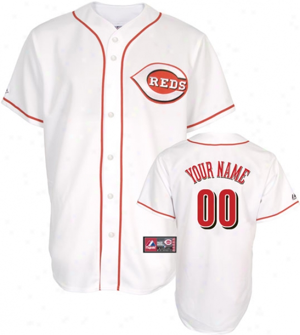Cincinnati Reds -personalized With Your Name- Home Mlb Replicca Jersey