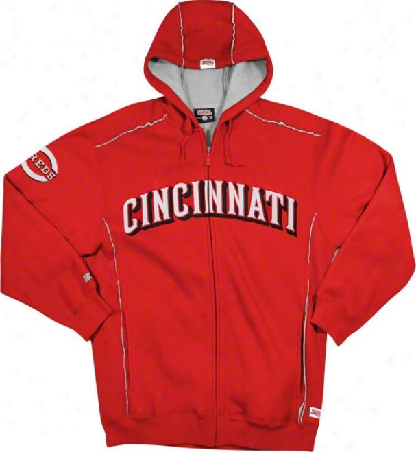 Cincinnati Reds Red Grand Slam Full-zip Sherpa Lined Theemal Hooded Jacket