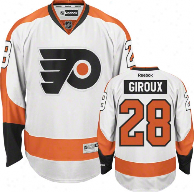 Claue Giroux Jersey: Reebok White #28 Philadelphia Flyers Premier Jersey