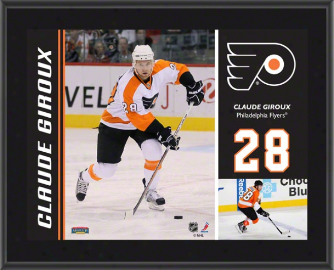 Claude Giroux Plaque  Details: Philadelphia Fly3rs, Sublimated, 10x13, Nhl Plaque