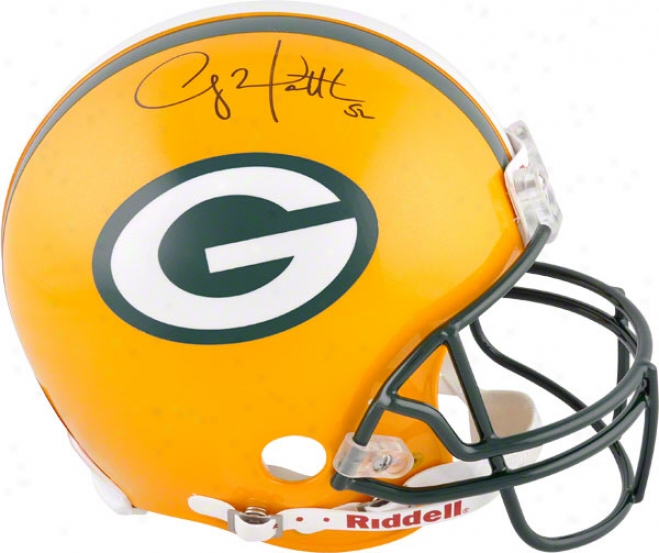 Clay Matthews Autographed Pro-line Helmet  Details: Green Bay Packers, Authentic Riddell Helmet